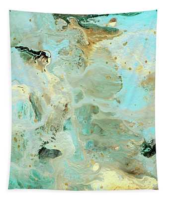 Tranquil Escape- Abstract Art By Linda Woods Tapestry