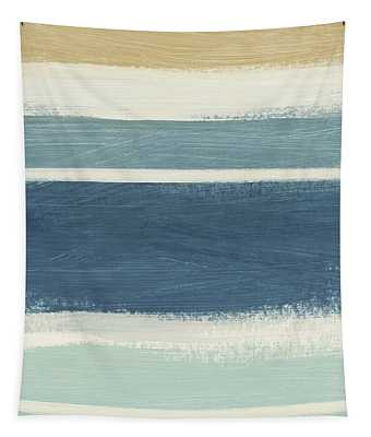 Tranquil Stripes- Art By Linda Woods Tapestry