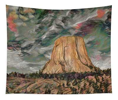 Transcendental Devils Tower Tapestry