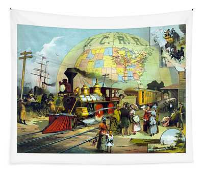 Transcontinental Railroad Tapestry