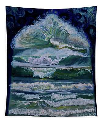 Transformed By God-waves Of Glory Tapestry