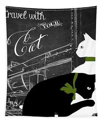 Travel With Your Cat Tapestry