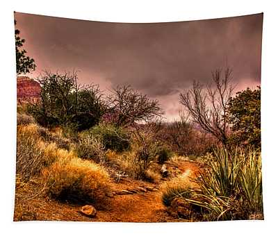 Traveling The Trail At Red Rocks Canyon Tapestry