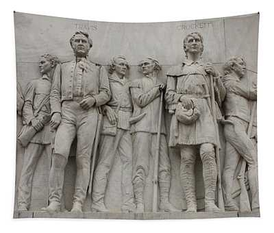 Travis And Crockett On Alamo Monument Tapestry