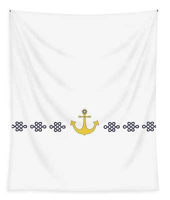 Treasure Knot With Yellow Anchor  Tapestry