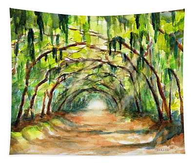 Tree Canopy With Spanish Moss Tapestry