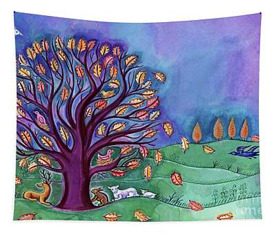 Tree In Autumn Tapestry