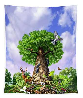 Woodland Paintings Wall Tapestries
