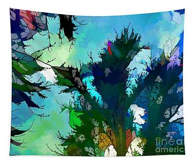 Tree Spirit Abstract Digital Painting Tapestry