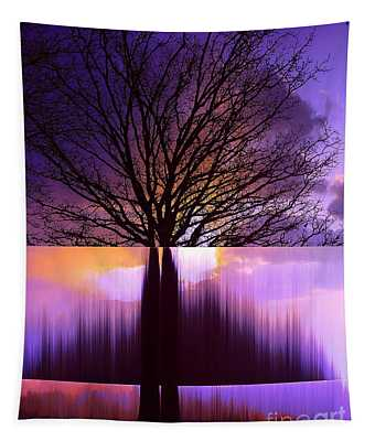 Tree Triptych Tapestry
