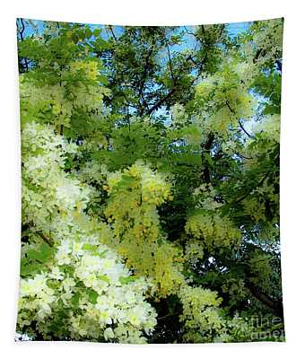 Trees And Flowers In Hawaii 492 Sq Tapestry