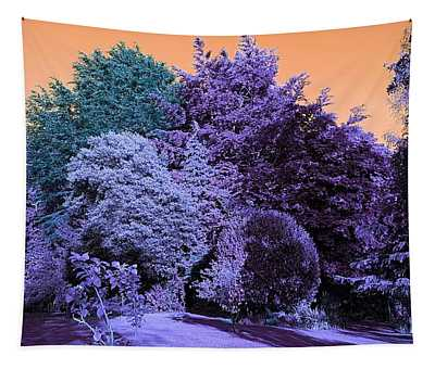 Treescape In Indigo Mix Tapestry