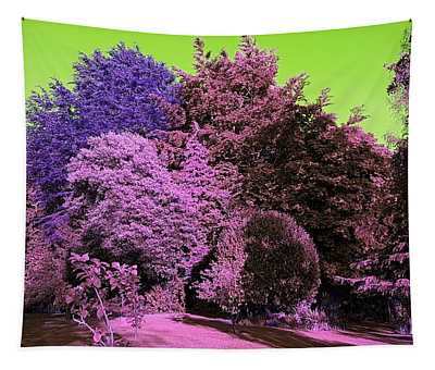 Treescape In Pink Mix Tapestry