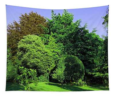 Treescape In Vivid Greens Tapestry