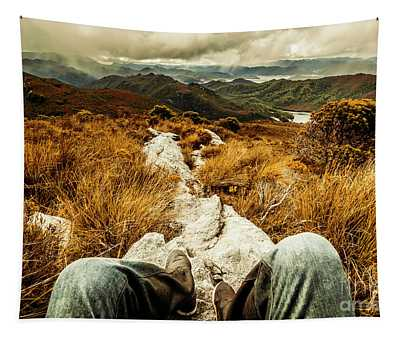 Trekking Tasmanian Mountains Tapestry
