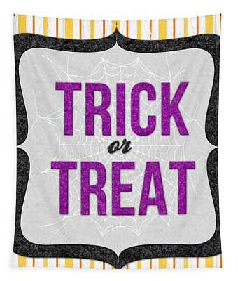 Trick Or Treat- Art By Linda Woods Tapestry