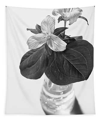 Trilliums In A Vase  Tapestry