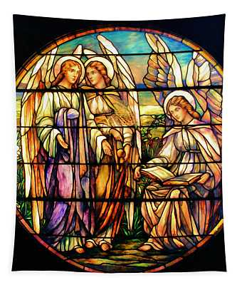 Trio Of Angels Tapestry