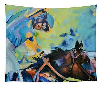 Triple Crown Champion American Pharoah Tapestry