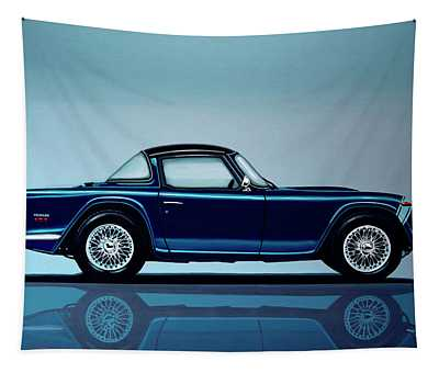 Triumph Tr5 1968 Painting Tapestry