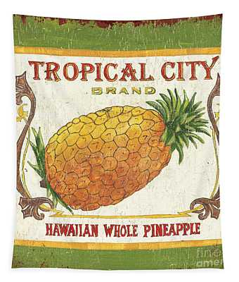 Tropical City Pineapple Tapestry