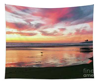 Tropical Sunset Island Bliss Seascape C8 Tapestry