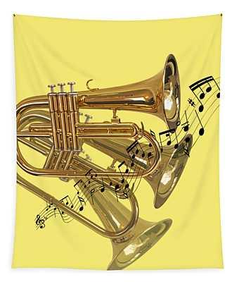 Trumpet Fanfare Tapestry