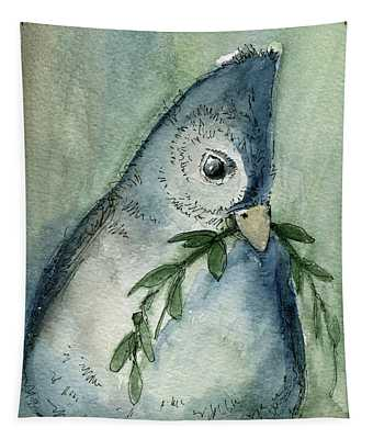 Tufted Tit Tapestry