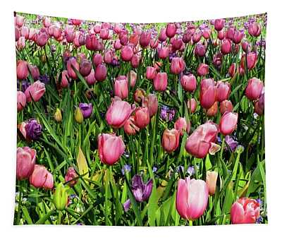 Tulips In Bloom Tapestry