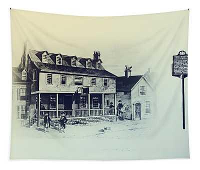 Tun Tavern - Philadelphia - Birthplace Of The Marine Corps Tapestry