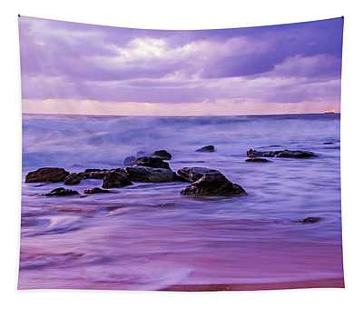 Turbulent Daybreak Seascape Tapestry