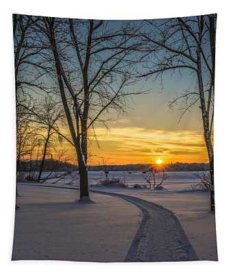 Turn Left At The Sunset Tapestry