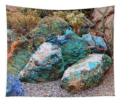 Turquoise Rocks Tapestry