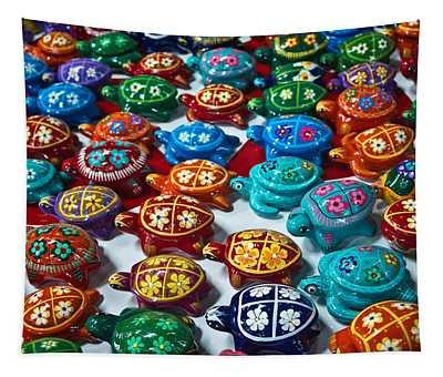 Turtles Trutles Turtles Tapestry