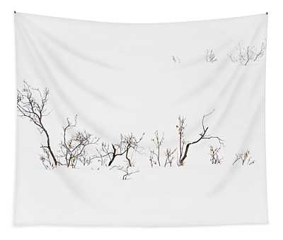 Twigs In Snow Tapestry