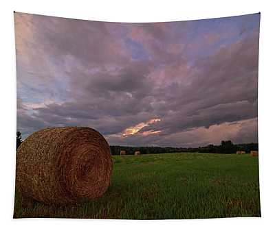 Twilight Hay Bale Tapestry