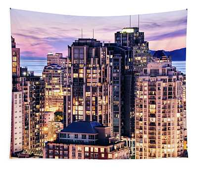 Twilight At English Bay Vancouver Tapestry