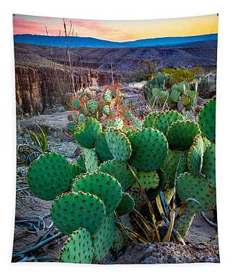 Twilight Prickly Pear Tapestry