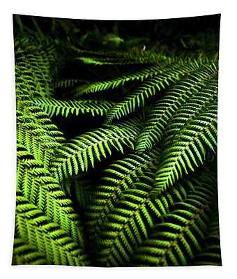 Twilight Rainforest Fern  Tapestry