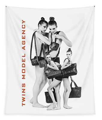 Twins Model Agency Tapestry
