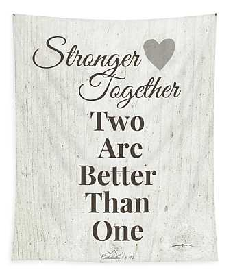 Two Are Better Than One- Art By Linda Woods Tapestry
