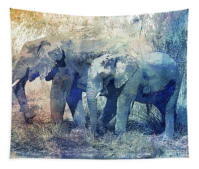 Two Elephants Tapestry
