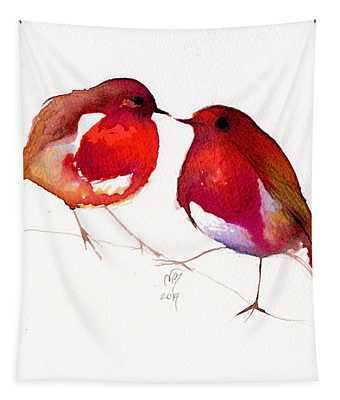 Two Little Birds Tapestry