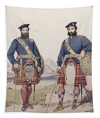 Two Men In Highland Dress Tapestry