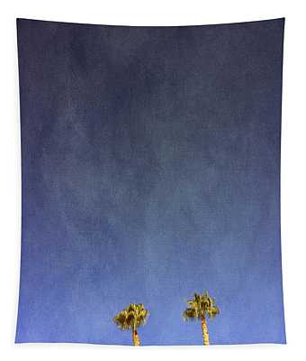 Two Palm Trees- Art By Linda Woods Tapestry