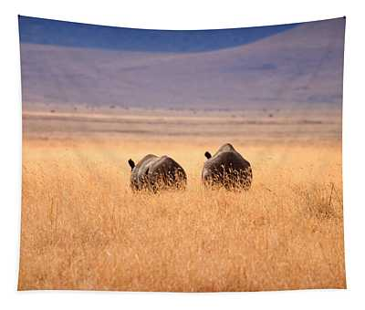 Two Rhino's Tapestry