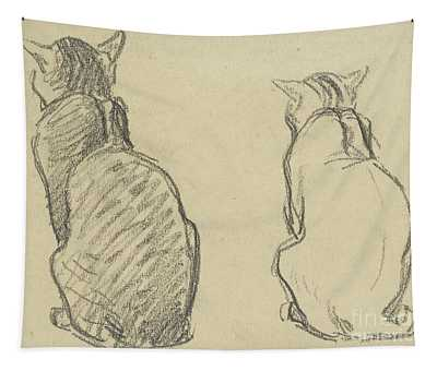 Two Studies Of A Cat Tapestry