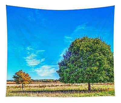 Two Trees On The Illinois Prairie Tapestry