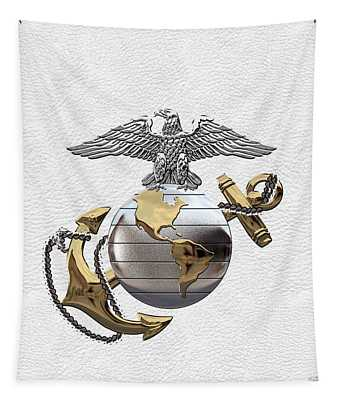 U S M C Eagle Globe And Anchor - C O And Warrant Officer E G A Over White Leather Tapestry
