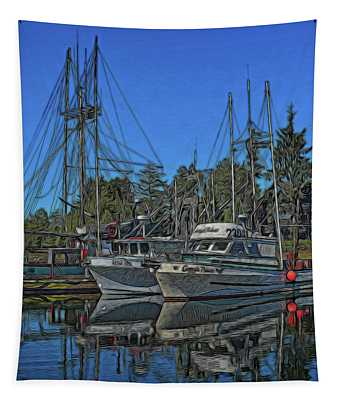 Ucluelet Harbor 1 Tapestry